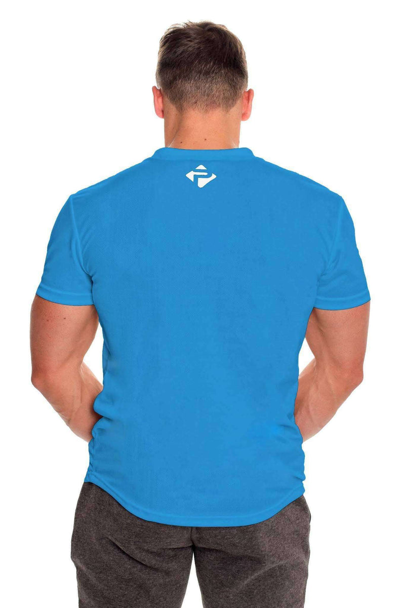 T-Shirts - Progress Performance T-Shirt - Small Logo (Blue)