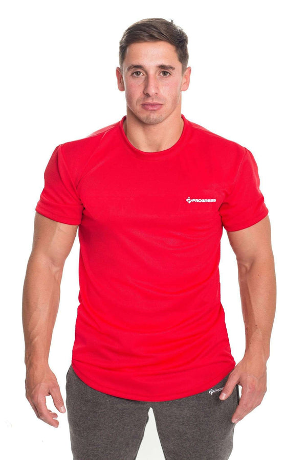 T-Shirts - Progress Performance T-Shirt - Small Logo (Red)