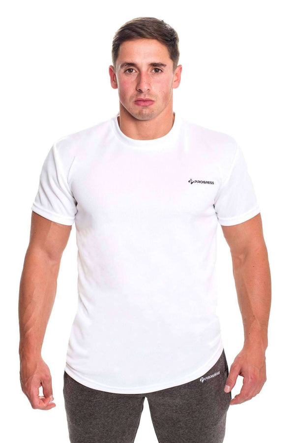 T-Shirts - Progress Performance T-Shirt - Small Logo (White)