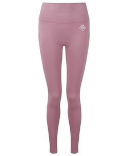 Ladies Ribbed Seamless Leggings (Mauve)