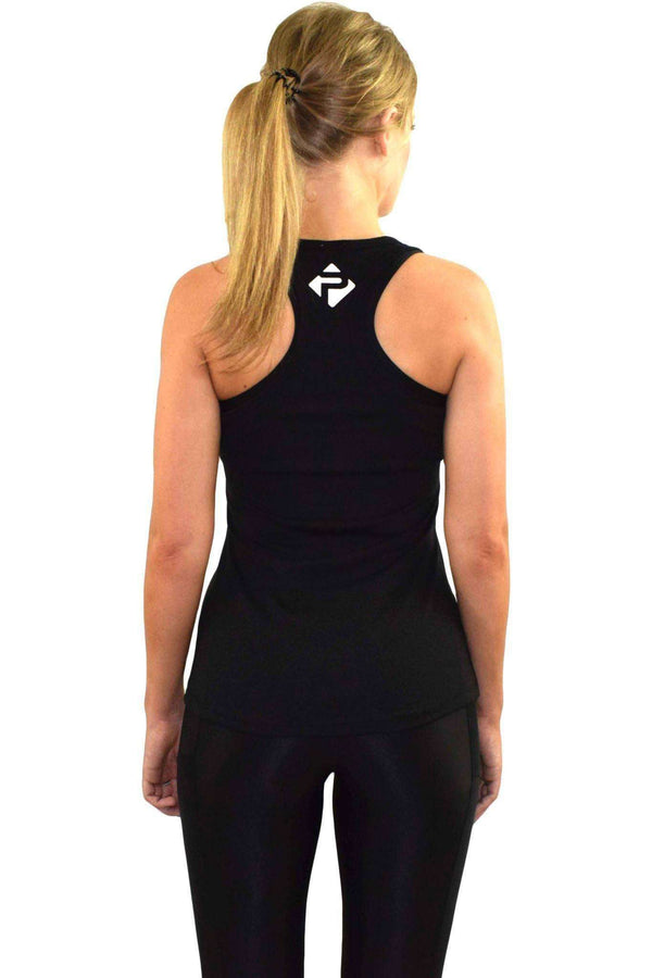 Vests & Sports Bras - Progress Ladies Essential Slub Vest (Black)