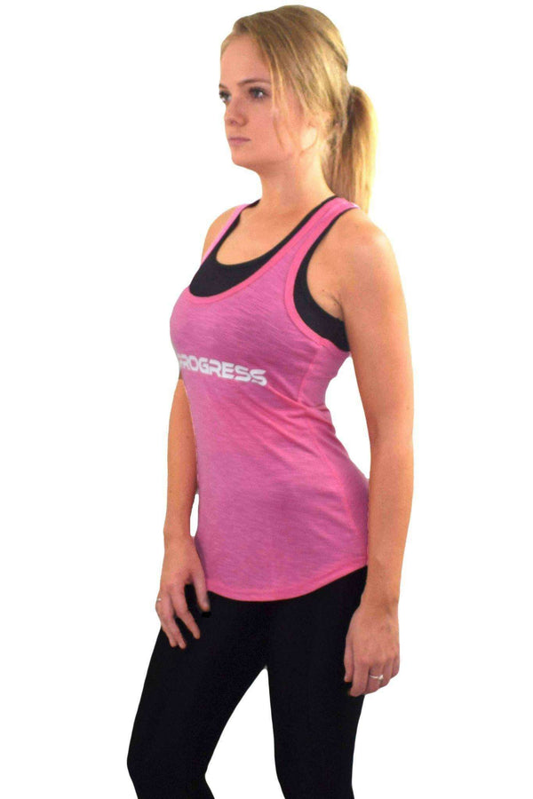 Vests & Sports Bras - Progress Ladies Essential Slub Vest (Pink)