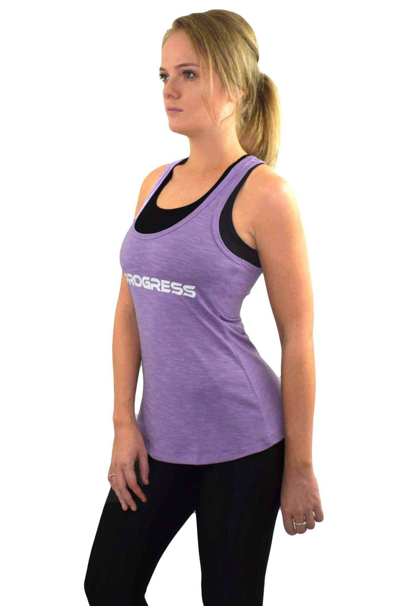 Vests & Sports Bras - Progress Ladies Essential Slub Vest (Purple)