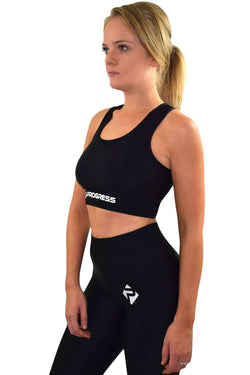 Vests & Sports Bras - Progress Ladies Essential Sports Bra (Black)