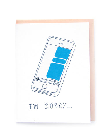 """I'm Sorry I Blew You Up"" Card"