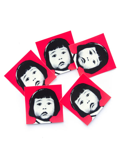 Yoko Neon stickers pack of 5