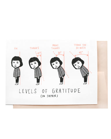Levels of Gratitude Card
