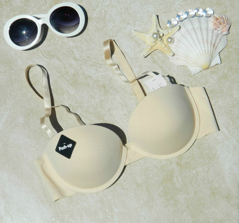 (34C) Beige Push-Up Bra