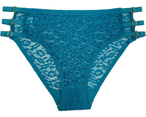 Show You Off Full Lace  Panty - Teal