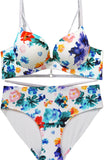Club Tropicana Floral Push-Up Bra and Panty Set