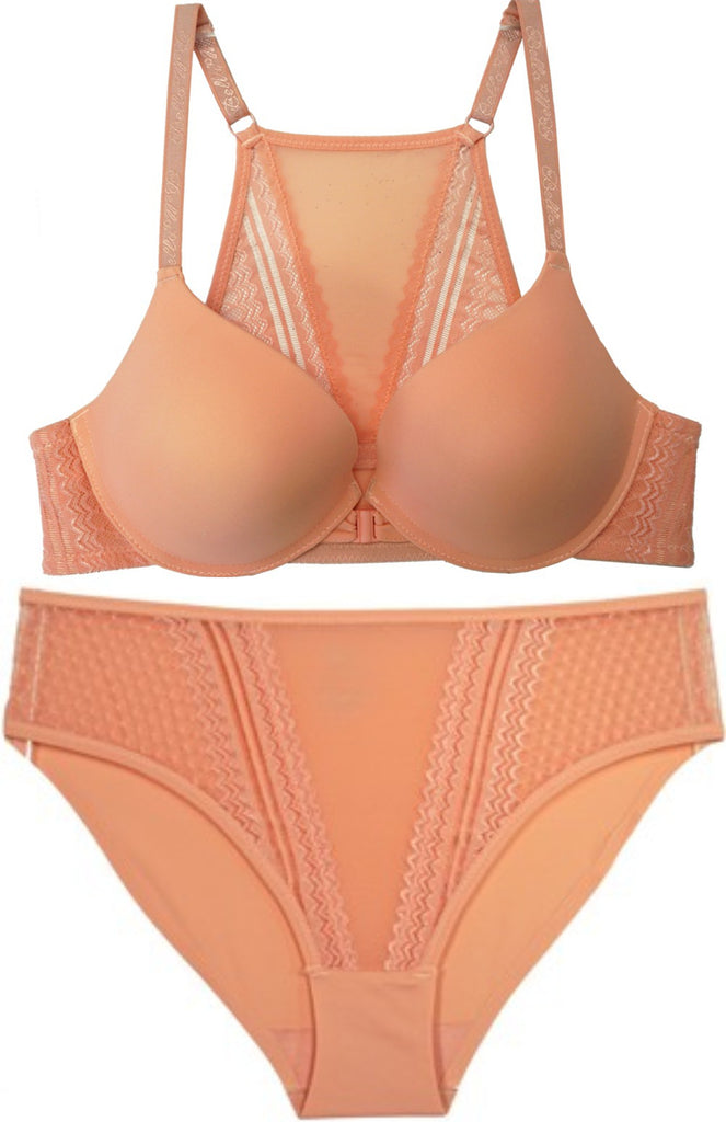 Just Peachy Racerback Push-Up Bra and Panty Set