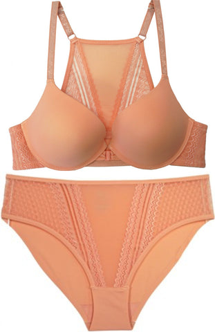 Just Peachy Racerback Bra and Panty Set