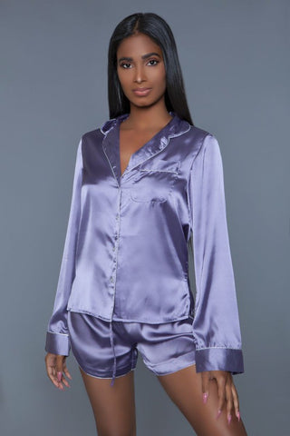 In Your Dreams Satin Pajama Set