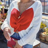 Twisted Heart Sweater Top
