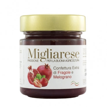 Migliarese - Strawberry & Pomegranate Jam (10.5 oz)