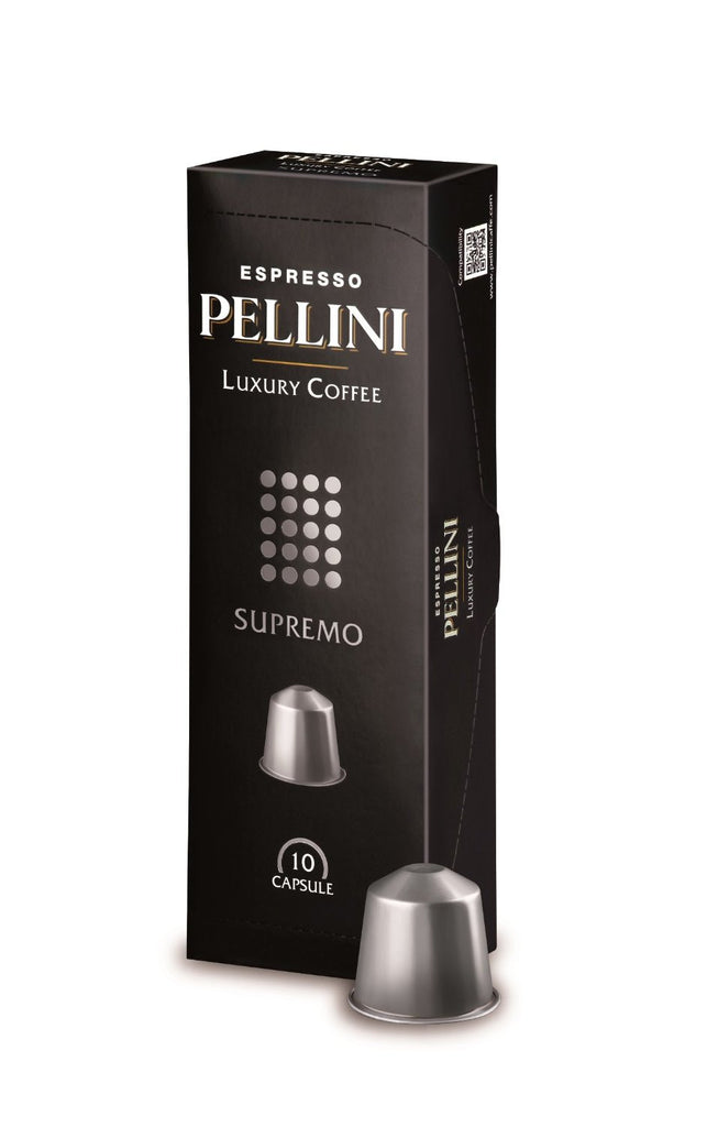 Pellini Luxury Supremo Nespresso Capsules (2 Pack 0.69/cap or 6 Pack 0.65/cap)