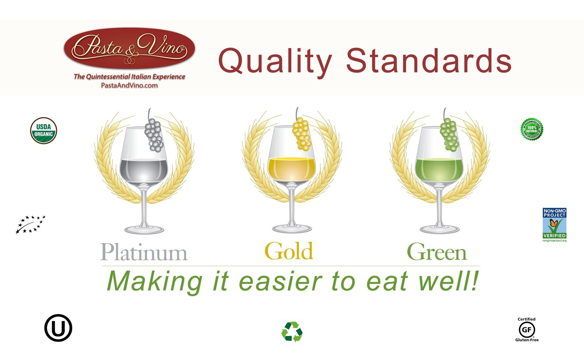 Pasta And Vino Quality Standards