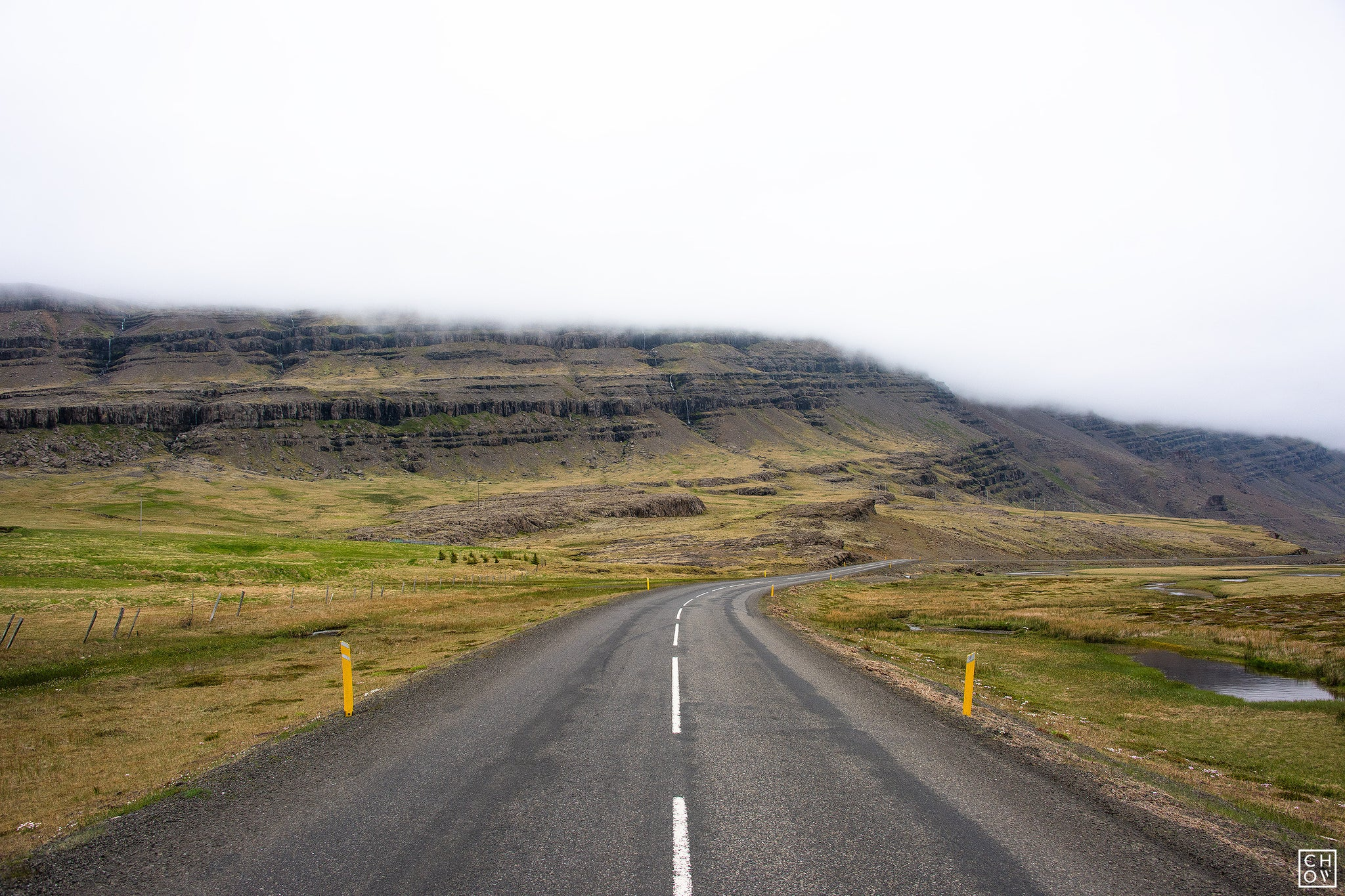 Driving through the Eastern Fjords of Iceland