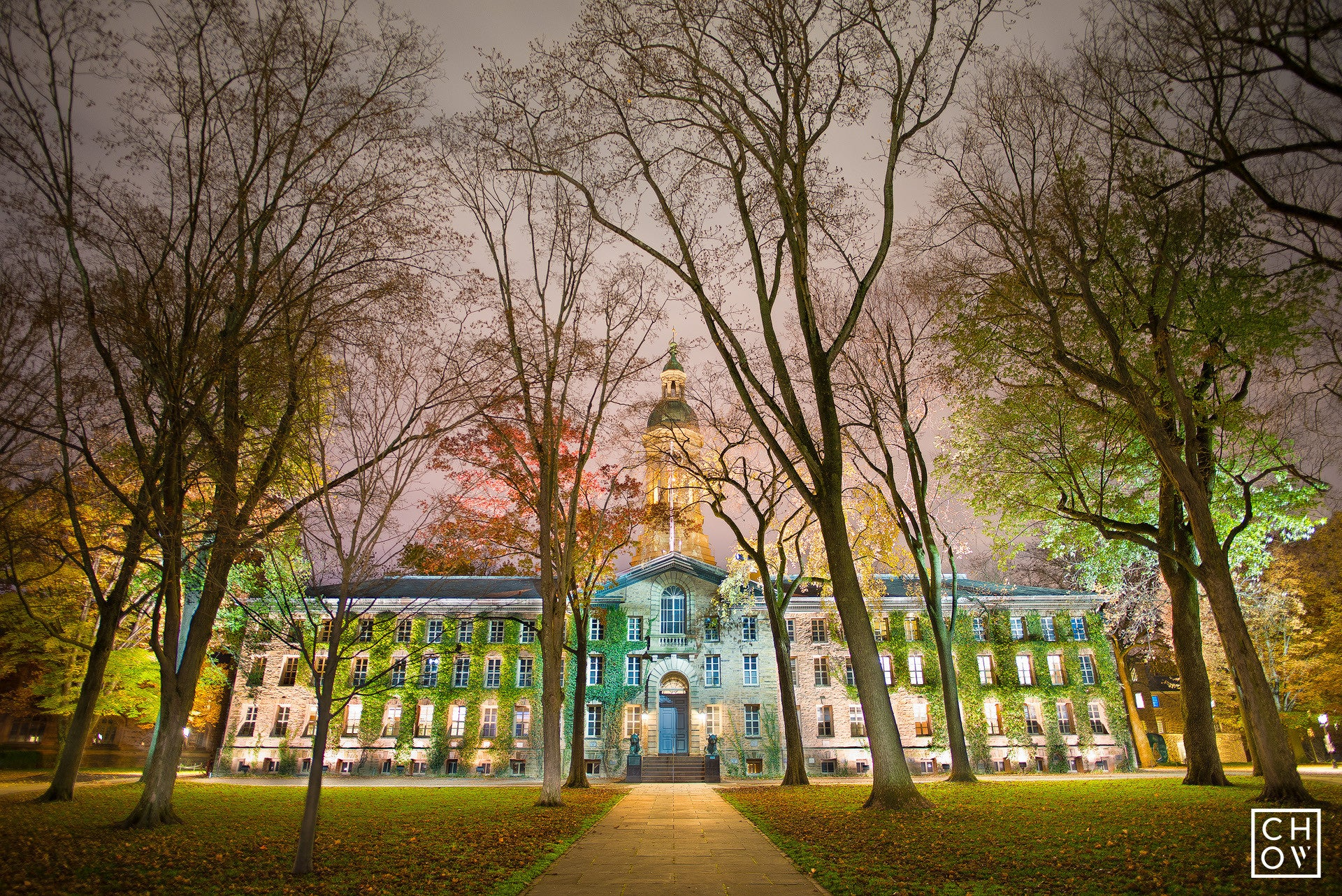 Nassau At Night // Princeton University
