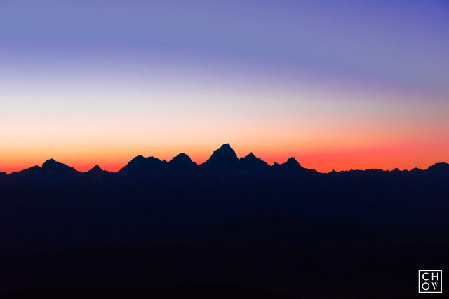 Paintbrush Silhouette // The Grand Tetons, Wyoming