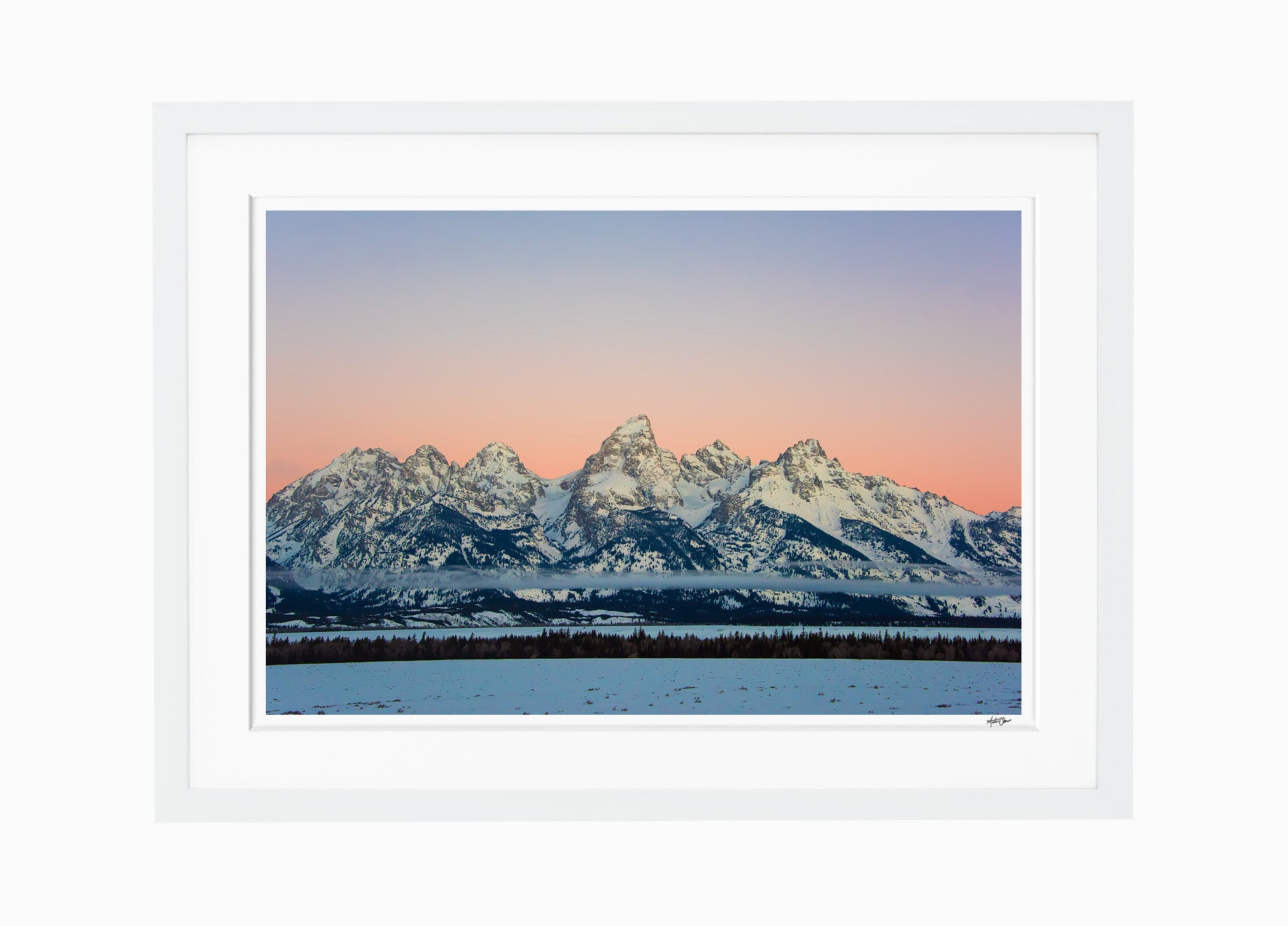 Winter Sunrise // The Grand Tetons, Wyoming