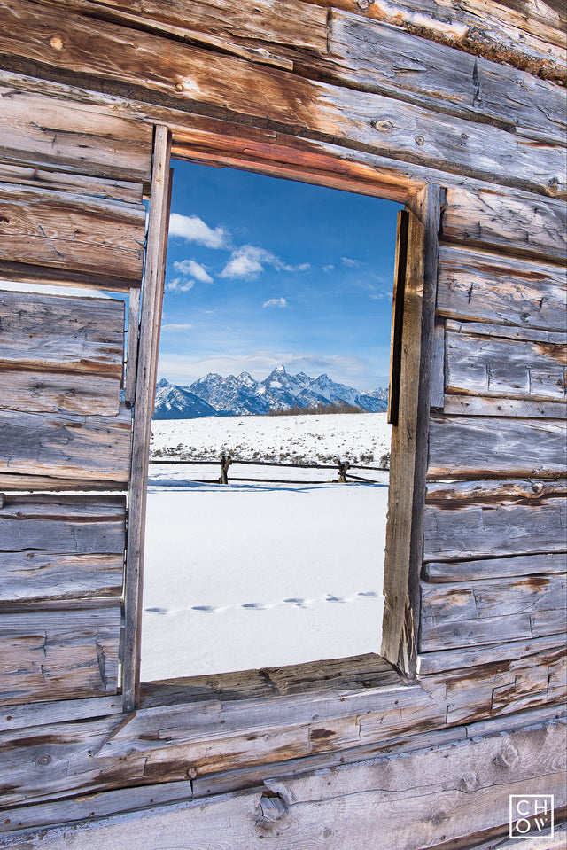 Winter Window // Jackson Hole, Wyoming
