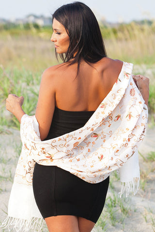 Shawl Vanita Embroidered Wool
