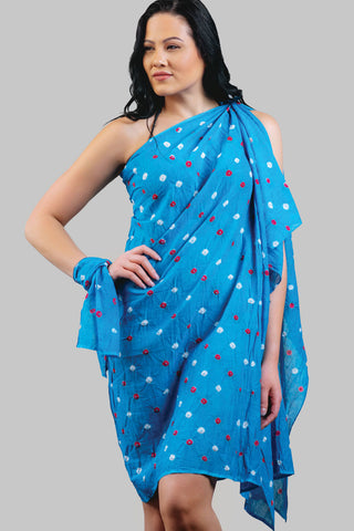 Sarong & Head Scarf Set - Blue