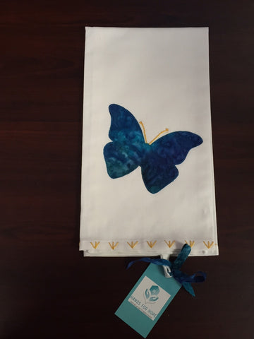 Tea Towel - Butterfly - Dark Blue