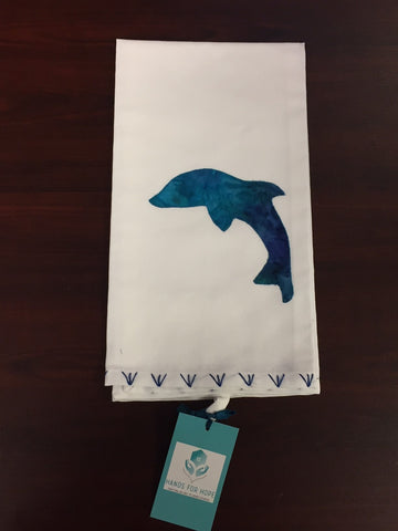 Tea Towel - Dolphin - Dark Blue