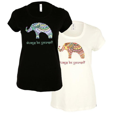 """Always be Yourself"" Elephant T-Shirt"