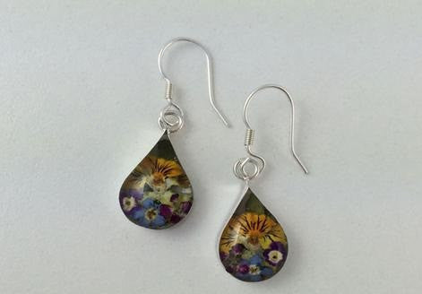 Teadrop Flower Earrings