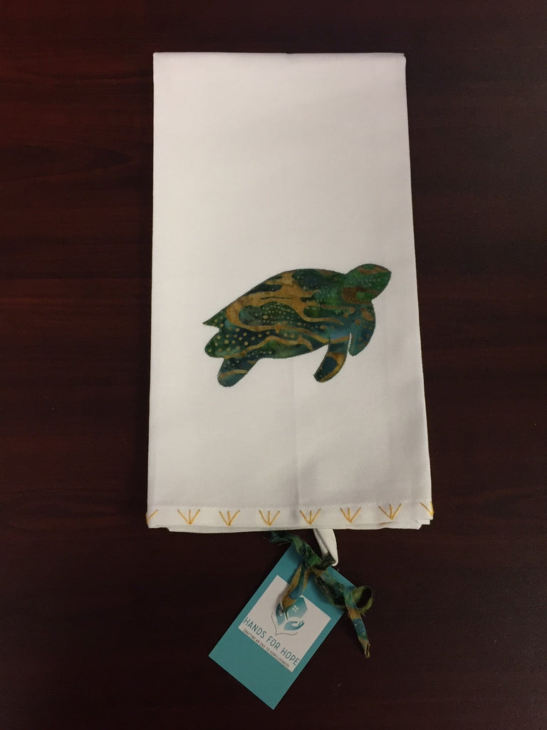 Tea Towel - Sea Turtle - Green