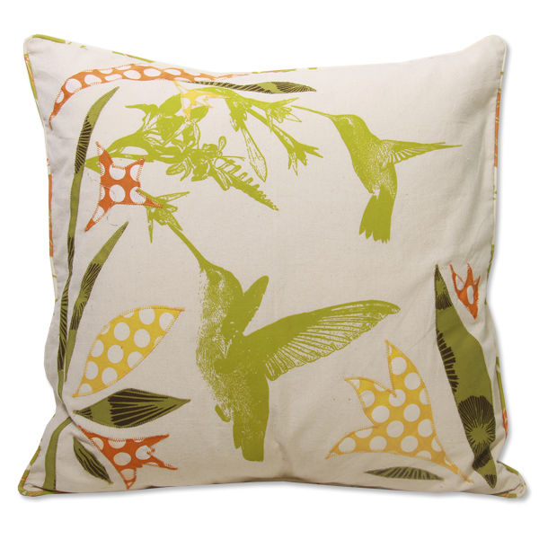 Pillow Cover Hummingbird