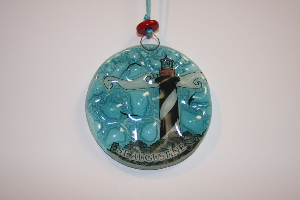 St. Augustine Lighthouse Glass Ornament