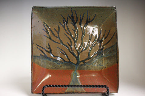 Tree of Life Square Plate Small