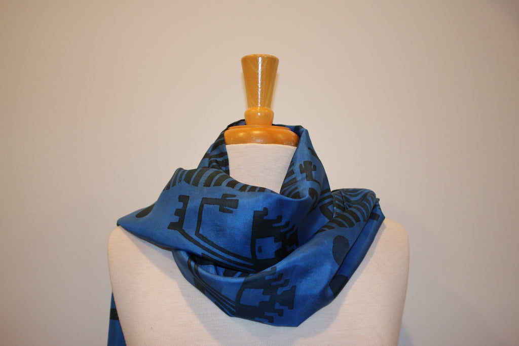 SB Collection Black & Blue Silk Diaguita Inspiration 2