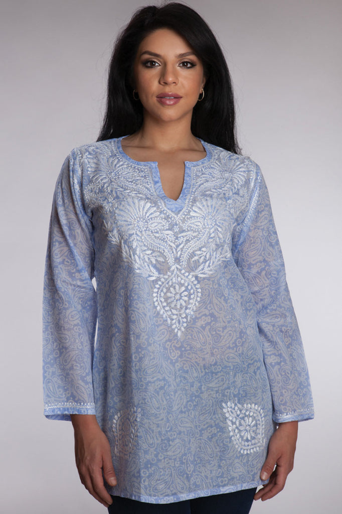 Periwinkle Embroidered Tunic