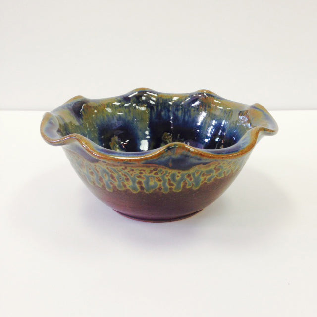 Blue Pottery Ice Cream Bowl