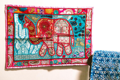 Tapestry - Cherished Elephant - Red