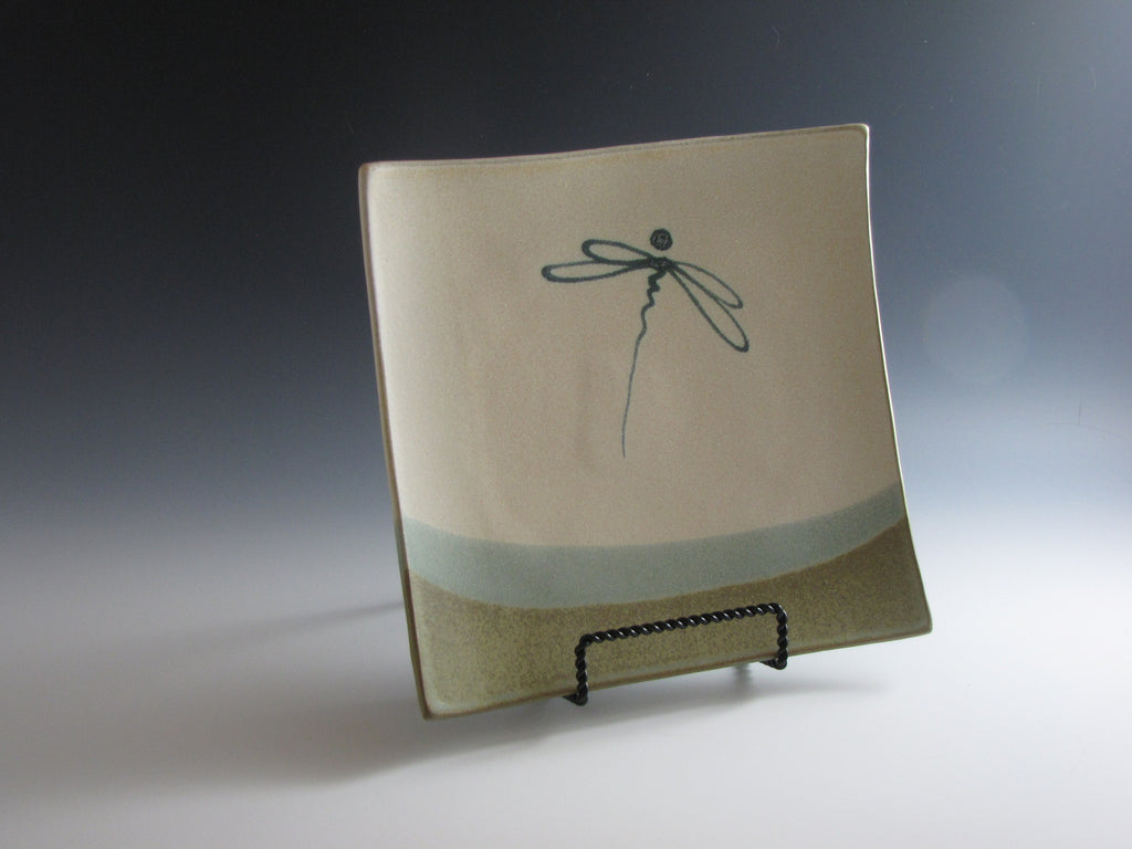 Dragonfly Square Plate Large