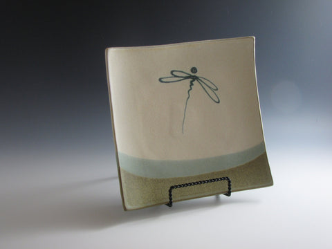 Dragonfly Square Plate Small