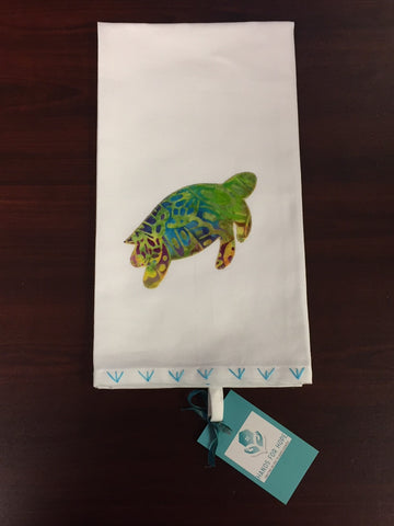 Tea Towel - Sea Turtle - Yellow