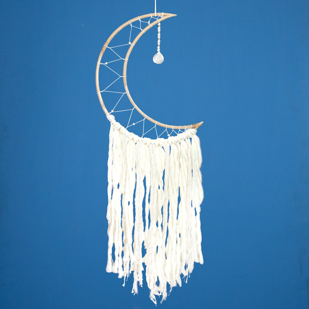 Dream Catcher Quarter Moon & Crystal