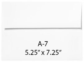 The Ink Pad Envelopes - (Large) A7 Pack of 50