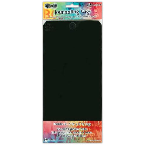 Dylusions Black Tags  - Pkg of 10 #12