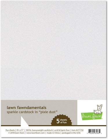 Lawn Fawn Sparkle Cardstock Pixie Dust