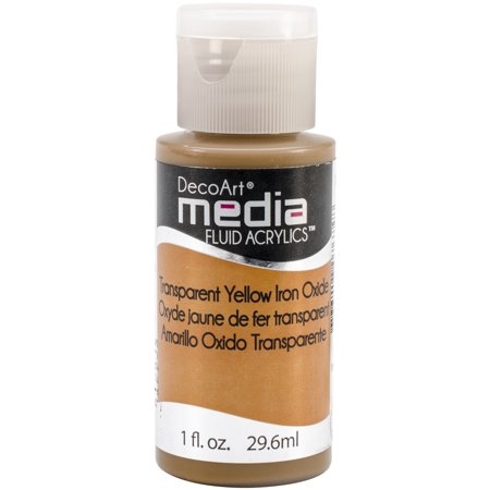 DecoArt Medica Fluid Acrylics - Transparent Yellow Iron Oxide