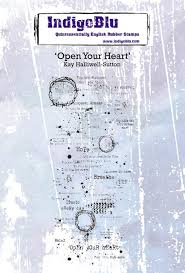 Indigo Blu Open Your Heart Cling Stamp