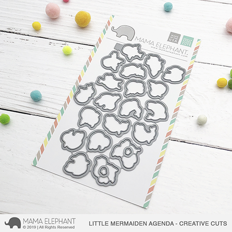 Mama Elephant Little Mermaiden Agenda Creative Cuts